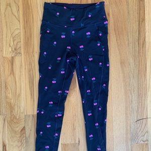 New Balance navy cherry print pants